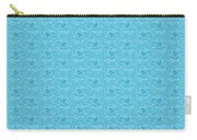 Retro Blue Pattern Carry-all Pouch