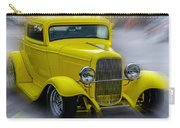Retro Car In Yellow Carry-all Pouch