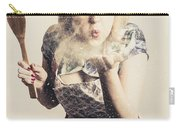 Retro Cooking Woman Giving Recipe Kiss Carry-all Pouch
