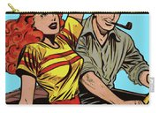 Retro Couple On Boat Comic Style Carry-all Pouch