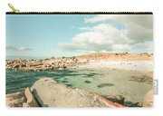 Retro Filtered Beach Background Carry-all Pouch