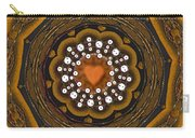 Retro Peace With Love And A Heart Of Gold Carry-all Pouch