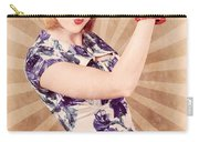Retro Pinup Boxing Girl Fist Pumping Glove Hand  Carry-all Pouch