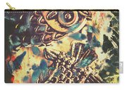Retro Pop Art Owls Under Floating Feathers Carry-all Pouch