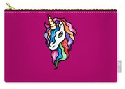 Retro Rainbow Unicorn Carry-all Pouch