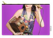 Retro Receptionist On Vintage Telephone. Call Us Carry-all Pouch