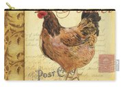 Retro Rooster 1 Carry-all Pouch by Debbie DeWitt