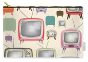 retro TV pattern  Carry-all Pouch by Setsiri Silapasuwanchai
