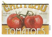 Retro Veggie Labels 4 Carry-all Pouch by Debbie DeWitt