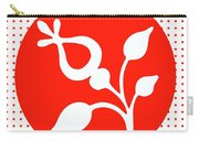 Retro White Flower Carry-all Pouch