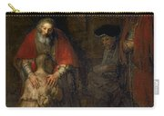 Return Of The Prodigal Son Carry-all Pouch by Rembrandt Harmenszoon van Rijn