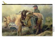 Returning From The Hill Carry-all Pouch by Richard Ansdell