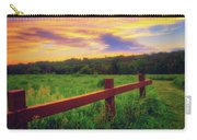 Retzer Nature Center - Sunset Over Field Carry-all Pouch