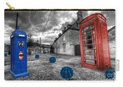 Revenge Of The Killer Phone Box  Carry-all Pouch by Rob Hawkins