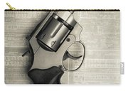 Revolver Pistol Gun Over Drawings Carry-all Pouch