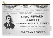 Reward Poster For The Arrest Of Oliver Perry Issued  Carry-all Pouch