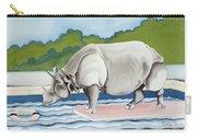 Rhino In La Carry-all Pouch