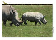 Rhino Mother And Calf - Kenya Carry-all Pouch