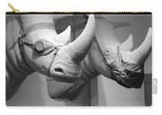 Rhinos In Black And White Carry-all Pouch
