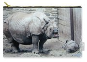 Rhinoceros And Baby Carry-all Pouch