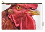 Rhode Island Red Rooster Isolated On White Carry-all Pouch