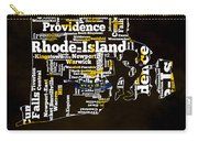 Rhode Island Typographic Map Carry-all Pouch