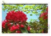 Rhodies Art Prints Red Rhododendron Floral Garden Landscape Baslee Carry-all Pouch