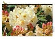 Rhodies Creamy Yellow Orange 3 Rhododendrums Gardens Art Baslee Troutman Carry-all Pouch