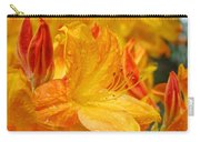 Rhodies Orange Yellow Rhododendrons Art Prints Canvas Baslee Troutman Carry-all Pouch