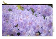 Rhododendron Floral Flowers Lavender Purple Prints Baslee Carry-all Pouch