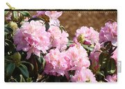 Rhododendron Garden Art Print Pink Rhodies Flowers Baslee Troutman Carry-all Pouch