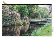 Rhododendrons And Wooden Bridge In Park Carry-all Pouch