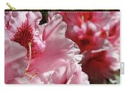 Rhododendrons Art Prints Floral Pink Rhodies Canvas Baslee Troutman Carry-all Pouch