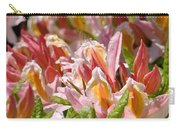 Rhododendrons Floral Art Prints Canvas Pink Orange Rhodies Baslee Troutman Carry-all Pouch