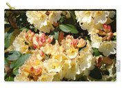 Rhododendrons Garden Art Prints Creamy Yellow Orange Rhodies Baslee Carry-all Pouch