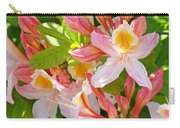 Rhododendrons Garden Floral Art Print Pink Rhodies Carry-all Pouch