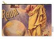 Rhum - Bottle - Earth - Map - Poster - Vintage - Wall Art - Art Print  - Girl  Carry-all Pouch