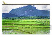 Rice Paddies And Mountains Carry-all Pouch