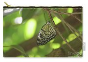 Rice Paper Butterfly Clinging To A Tree Branch Carry-all Pouch