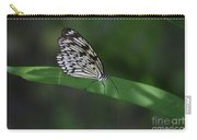 Rice Paper Butterfly On A Long Daylily Leaf Carry-all Pouch