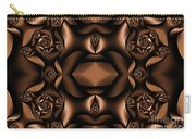 Rich Coffee Fractal Roses Carry-all Pouch