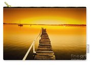 Rickety Pier Sunset Carry-all Pouch