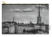 Riddarholmen Black And White Carry-all Pouch