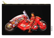 Rider On Red Motorbike Carry-all Pouch