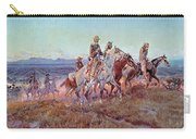 Riders Of The Open Range Carry-all Pouch by Charles Marion Russell