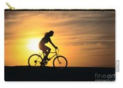 Riding At Sunset Carry-all Pouch