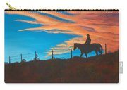 Riding Fence Carry-all Pouch by Jerry McElroy