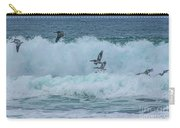 Riding The Waves At Wall Beach Carry-all Pouch