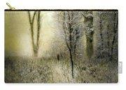 Rimy Forest Windy Daybreak By Laszlo Mednyanszky 1896 Carry-all Pouch