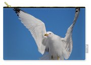 Ring Billed Gull In Flight Carry-all Pouch by Mircea Costina Photography